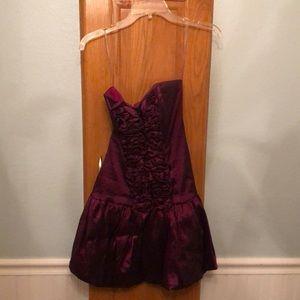 Purple Size 9 Formal Dress